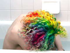Day 166 of 365 - Year 2 (wisely-chosen) Tags: selfportrait me may bathtub canon50mmf18 cameraraw 2011 rainbowhair 365days colorfulhair multicoloredhair naturallycurlyhair canonspeedlite430exii manicpanicredpassion manicpanicultraviolet manicpanicshockingblue manicpanicelectricbanana curlformers manicpanicpillarboxred adobephotoshopcs5extended herbalessencestouslemesoftlyconditioner proclaimarganoilhairoiltreatment itsa10miraclehairmask redkensmoothdownbuttertreatment