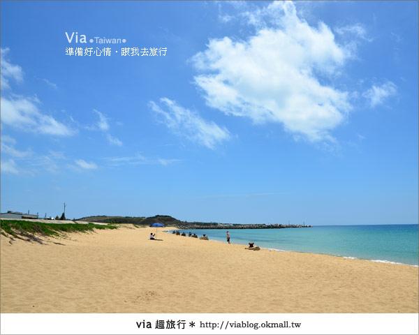 【澎湖沙灘】山水沙灘,遇到菊島的夢幻海灘!12