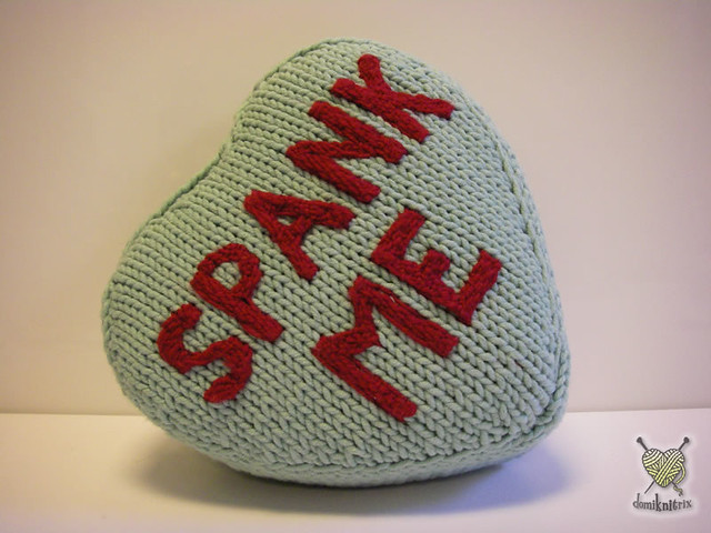 Knitting Pattern Heart Shaped Cushion : Who Knit It Better? -Heart Shaped Pillow Edition BeLoved Knits