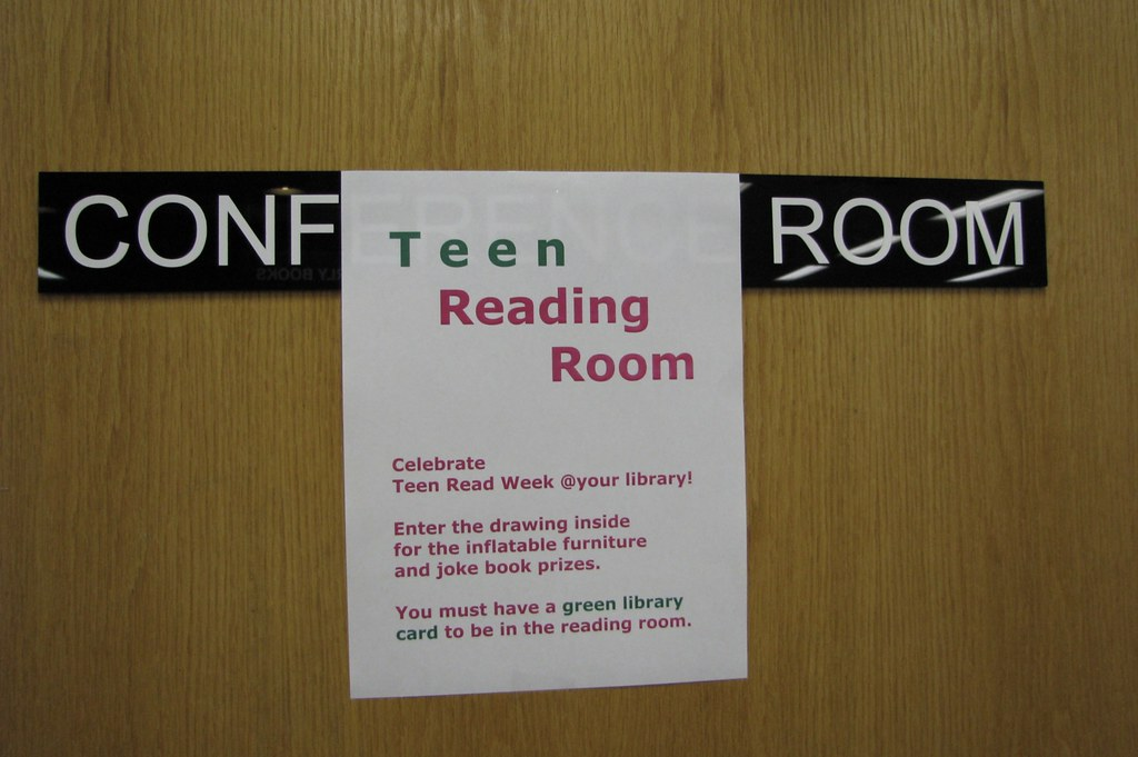 transformation from public conference room to teen reading room