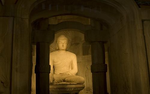 Buddha in a cave