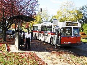 University Village transit stop, where the photos were taken.