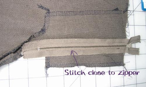 Zipper Fly Step 3