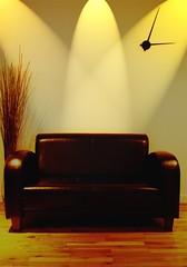 just after three (alternativefocus) Tags: lighting clock home pentax livingroom sofa leathersofa soe pentaxk10d trashbit alternativefocus justafterthree