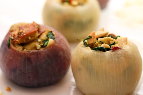 roasted stuffed onions