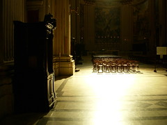 rome. inside san andrea della valle 1 (kexi) Tags: november light italy rome church wow dark nikon chairs interior empty coolpix confessional coolest nikoncoolpix supershot instantfave sanandreadellavalle