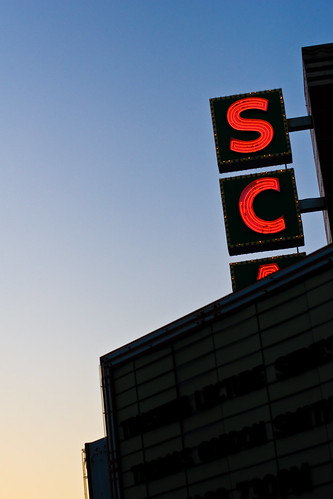 dark side of the SCAD sign