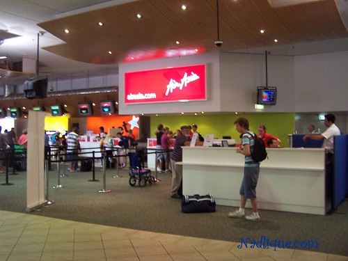 Air Asia X check-in counter