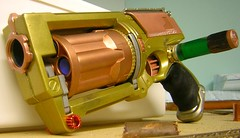 SteamPunk Nerf Maverick (animakitty) Tags: bronze toys mod gun victorian foam weapon copper customized nickel revolver nerf prop alchemy modded steampunk nerfmaverick nerfarmy