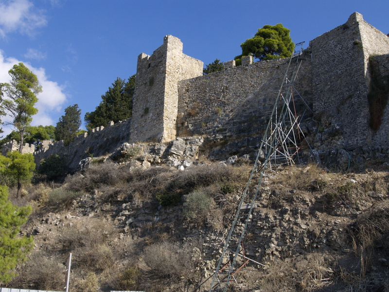 Nafpaktos castle walls from the SW
