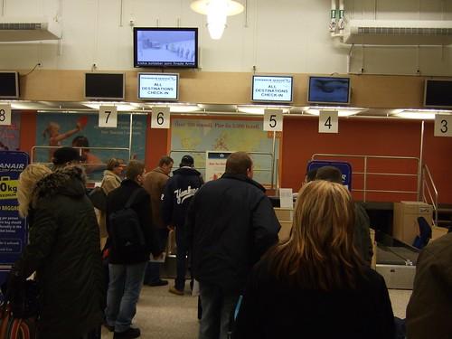 Check-in at Stockholm-Skavsta Airport