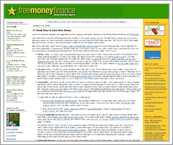Free Money Finance dispenses some great advice on how to make more money now by QuizzleTown