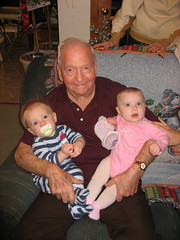 Ian & Elizabeth with Great-Grandpa Bell