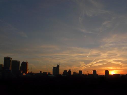 First light over Docklands