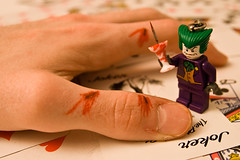 65/365 (DiggPirate) Tags: cards tim keychain hand lego cut batman joker greenhair calu fgr sigma1770 365day digitalrebelxti
