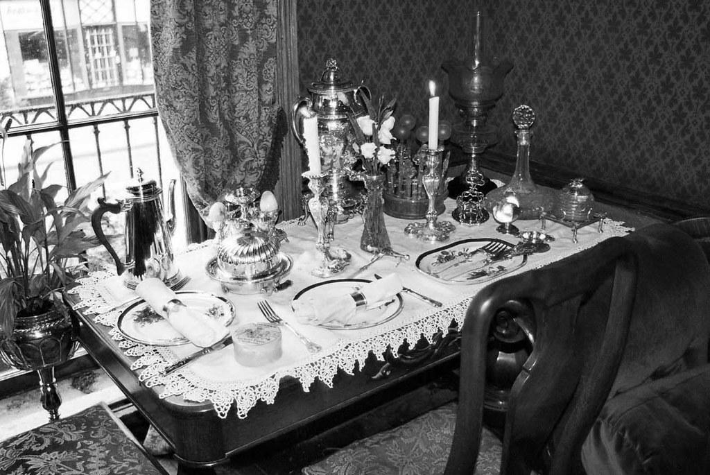 Sherlock Holmes' Dining Table... B&W