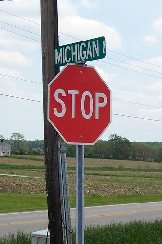 Michigan Road at US 421, Napoleon, Indiana