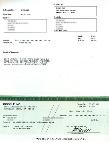 Adsense cheque payment 2- 270508