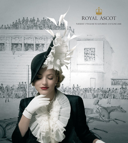 Royal Ascot 2008 Poster - Philip Treacy hat