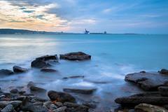 藍海 (c63t) Tags: 長曝 潮水 減光鏡 台北港