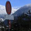Vollèges (bulbocode909) Tags: valais suisse vollèges valdentremont panneaux montagnes arbres neige hiver nuages rouge bleu