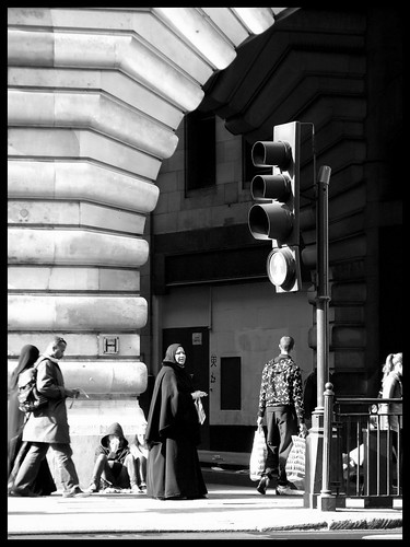 Scenes from Regent Street in black and white