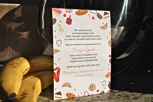 Sweet & Savory Recipe Shower Invite