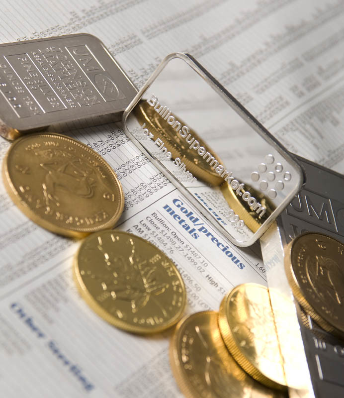 Gold and Silver Coins & Bars on Precious Metal News Page
