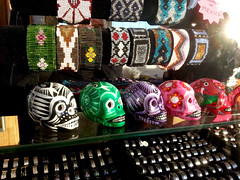 Trinkets For Sale, Brighton Pier, Sussex. (Man of Yorkshire) Tags: shop skulls mexico skull sussex souvenirs pier beads brighton crystal handmade decorative painted stall rings bracelets macabre unusual brightonpier trinkets palacepier