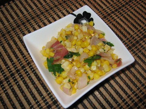 Corn, Shallots and Pancetta