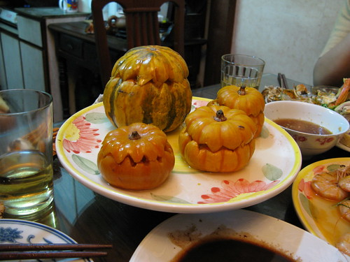 Pumpkin with sweet egg yolk filling