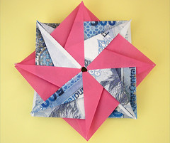 {   } ( GUM ) Tags: pink blue money flower yellow canon gum origami eid 500