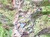Carte de la région du Lac de Bastani avec le Monte Renosu