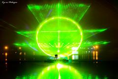 Laser & Water Show (y_han) Tags: show light eye water wheel ferris malaysia laser tasik titiwangsa