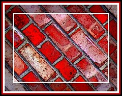 Brickwall in Artichoke Yard (tina negus) Tags: red wall framed bricks lincolnshire grantham wowiekazowie circleofarts artichokeyard