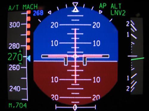 PFD closeup as we maintain FL290 doing Mach 0.70