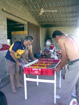 Integrantes del Pin-Pon de la Mañana disfutando de la actividad al aire libre