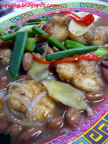 Ginger Onion Fish Fillet with Peanuts