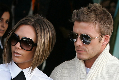 Victoria And David Beckham Cool Short Haircuts