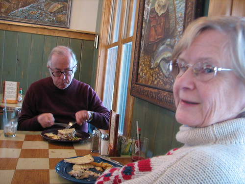 John & Pauline Cramer lunch in Keene, NY