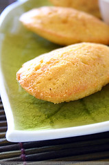 Cornmeal and Shallot Madeleines with Crème Fraîche