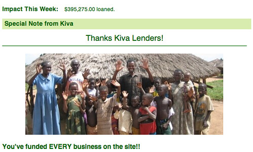 Kiva Funds ALL Loans