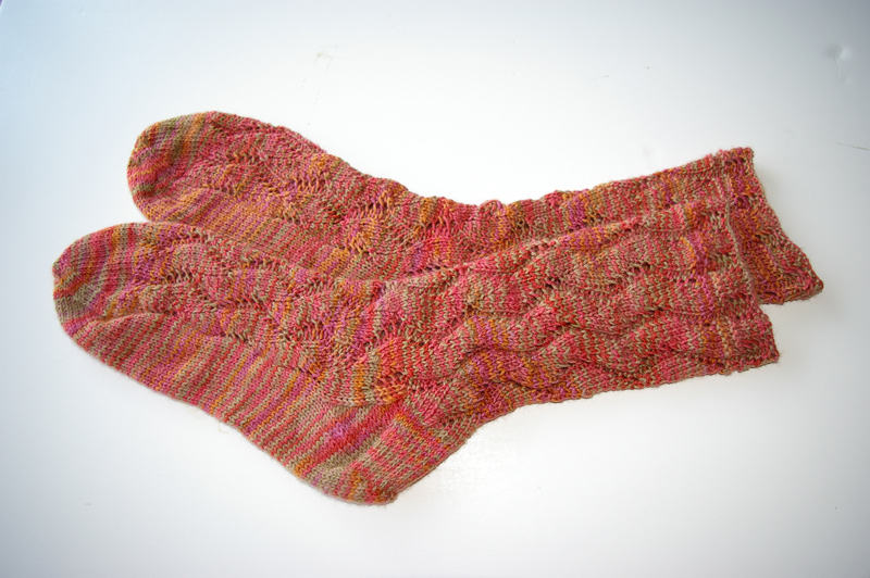 Waving Lace Socks DONE!