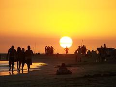Punta Arenas Sunset (jmven) Tags: sunset en beach de atardecer kodak venezuela punta margarita arenas isla mosquera