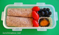 Wrap sandwich lunch for preschooler