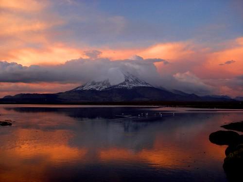 Atardecer Lago chungara