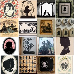 Vintage Silhouettes (Bella Luna Creative) Tags: shadow silhouette vintage painting drawing antique silhouettes cameo cameos