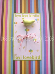 Lovi Lovebird Pin Topper (Pinks & Needles (used to be Gigi & Big Red)) Tags: sculpture birds birdie sewing polymerclay clay etsy pintopper