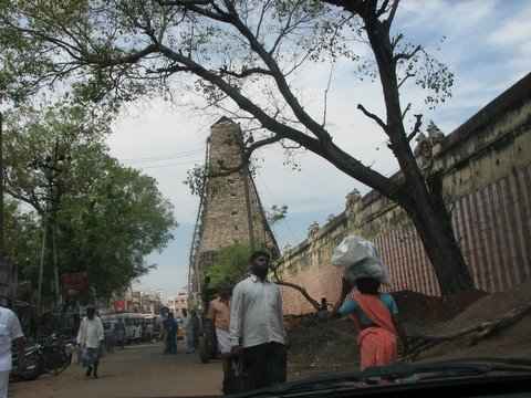meenakshi gopuram under renovation 260308