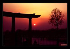 sunset at Rawal Lake